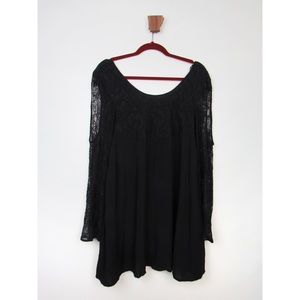 MINKPINK Black Lace Top Open Arm Dress Small